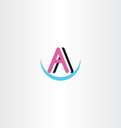 Letter a symbol logotype clip art vector