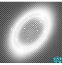 Light ring round shiny frame with lights dust vector