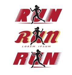Logo with running woman vector
