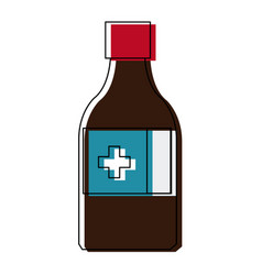 medicine bottle icon health care product vector image