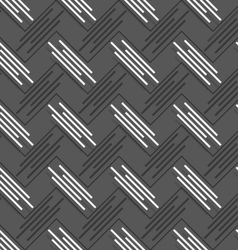 Monochrome pattern with diagonal uneven stripes vector