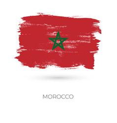 Morocco colorful brush strokes painted national vector