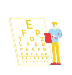 myopia or nearsightedness diseases eye vector image