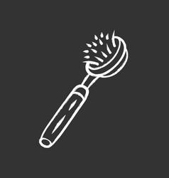 Natural dish brush chalk icon vector