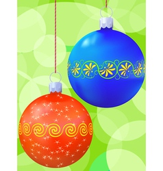 new years balls vector image