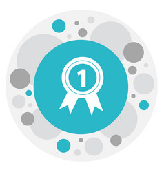 Of office symbol on award icon vector