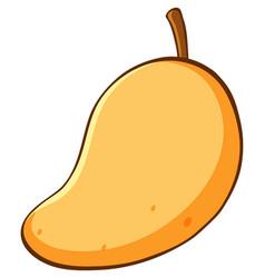 One mango on white background vector