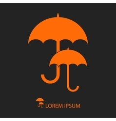 Orange umbrellas vector