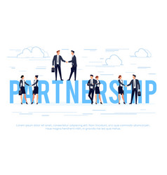 Partnership business concept in a flat style vector