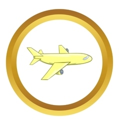 Passenger airplane icon vector