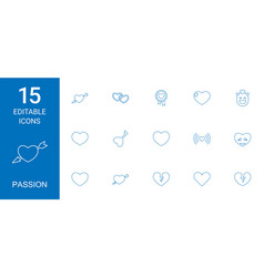passion icons vector image
