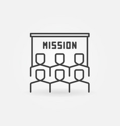 people and mission presentation outline vector image