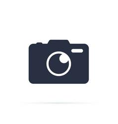 photo camera icon camera icon flat vector image