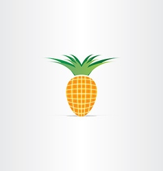Pineapple fruit plant icon vector