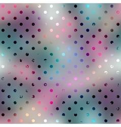 Polka dot pattern on blurred background vector