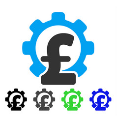 Pound financial industry flat icon vector