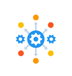 Process automation icon with gears vector