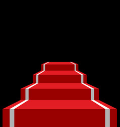 Red carpet stage isolated vip ladder in dark vector