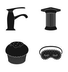 Sanitary ware cooking and or web icon in black vector