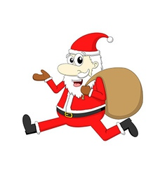Santa claus with gift bag vector