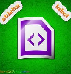 Script icon sign Symbol chic colored sticky label vector