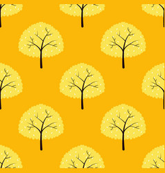 seamless pattern with trees on a blue background vector image