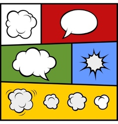 Set of Comic Bubbles and Elements vector