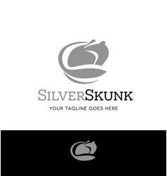 silver skunk logo for business vector image