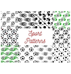 Sport balls seamless patterns vector image