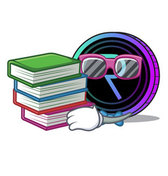 Student with book request network coin mascot vector