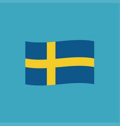 Sweden flag icon in flat design vector