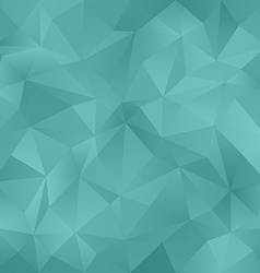 Teal irregular triangle pattern background vector image