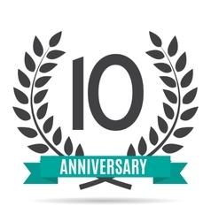 Template Logo 10 Years Anniversary vector