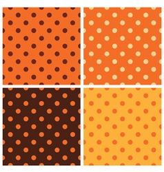 Thanksgiving dotted retro pattern collection vector image