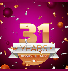 Thirty one years anniversary celebration design vector