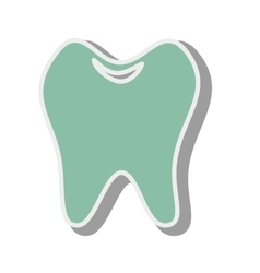 Tooth white oral vector
