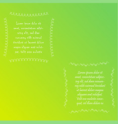 Two squareabstract frames with sample text vector