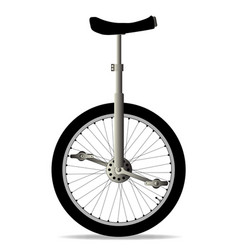 Unicycle on white vector