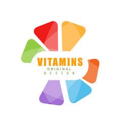 Vitamins logo template original design abstract vector
