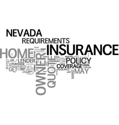 what goes into a nevada home owner insurance vector image