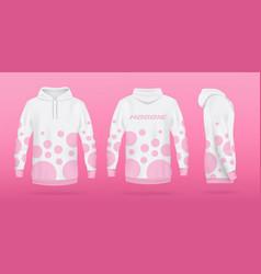 White sweatshirt or hoodie template realistic vector