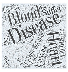 Why Heart Disease Word Cloud Concept vector