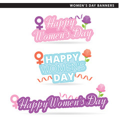 Womens day banners vector