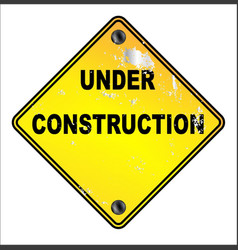 yellow under construction sign vector image