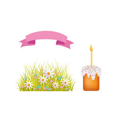 easter holiday spring objects set icon vector image vector image