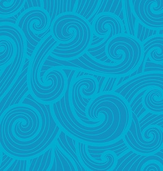 Hand drawn wave pattern vector image vector image