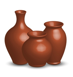 of vases vector image