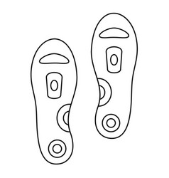 orthopedic insoles icon outline style vector image