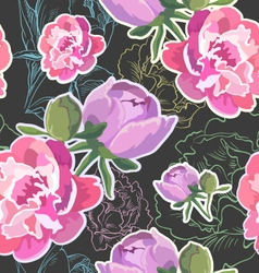 Seamless floral pattern backgrounds vector image vector image