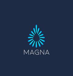 abstract colorful fiber dot water aqua logo design vector image vector image